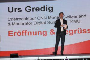 Urs Gredig, CHefredakteur CNN Money Switzerland, führte durch das Programm.