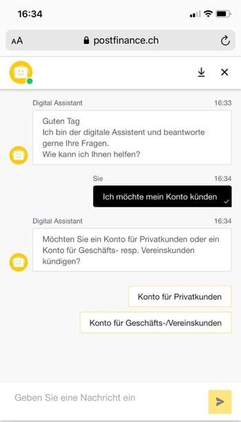 Screenshot 1_digitales Offboarding_Postfinance