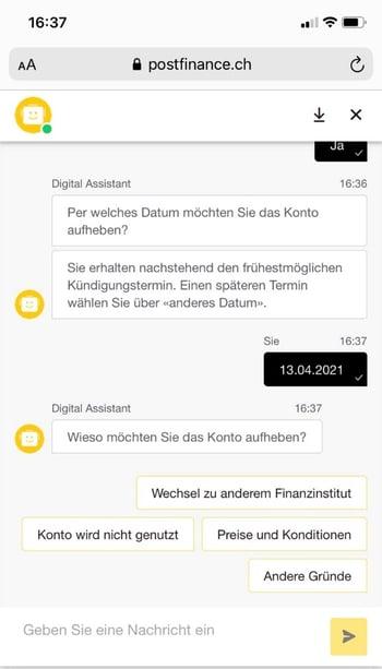 Screenshot 2_digitales Offboarding_Postfinance