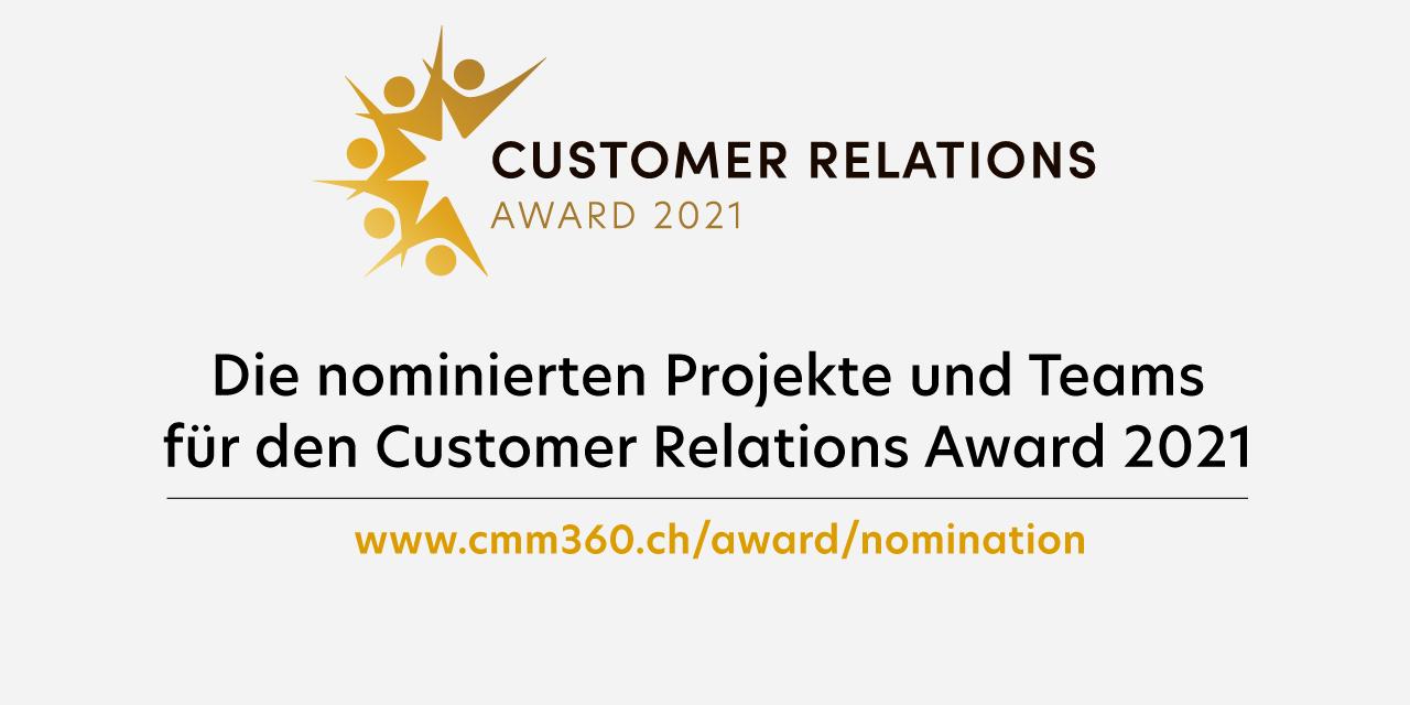 Die Nominierten für den Customer Relations Award 2021 stellen sich vor