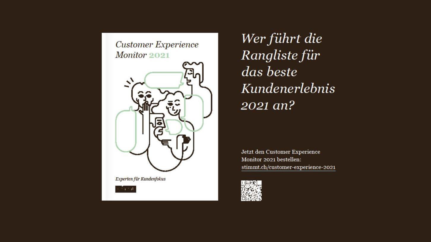 Stetig bessere Kundenerlebnisse in der Schweiz_CX Monitor 2021_cmm360