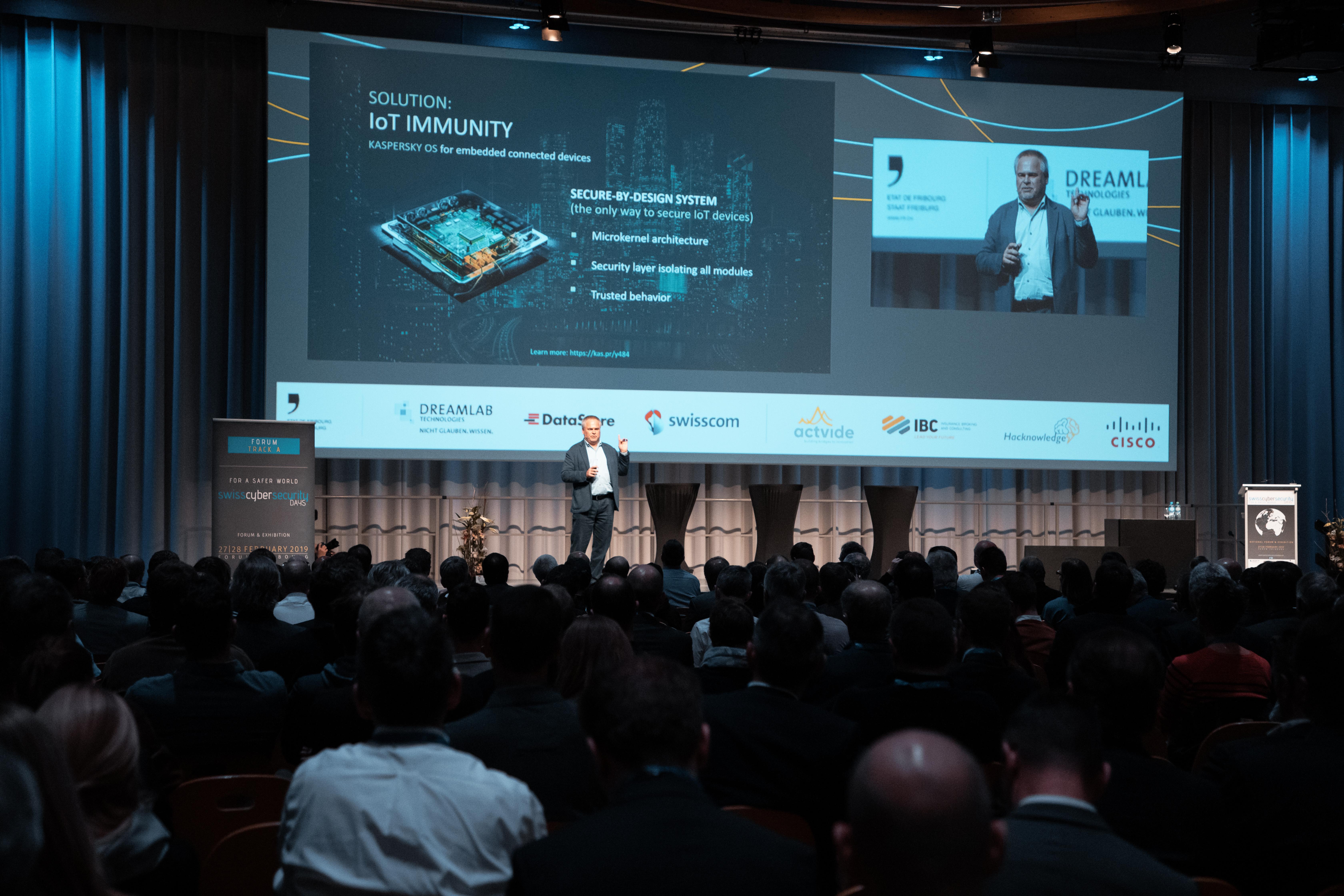 Cybersicherheitsexperte und CEO von Kaspersky Lab, Eugene Kaspersky an den Swiss Cyber Security Days
