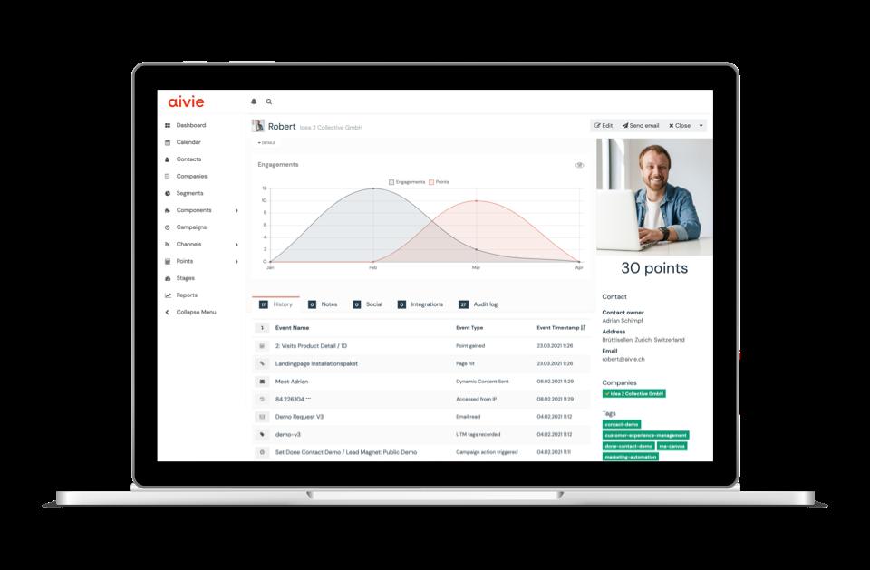 Schweizer Marketing Automation Tool Aivie will Mailchimp, Hubspot und Co. den Rang ablaufen_cmm360