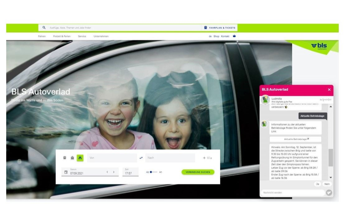 Mit dem KI-basierten Chatbot bietet die BLS nicht nur Kundinnen und Kunden Mehrwert_cmm360